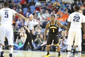 Jordan Aaron struggled in his final college game